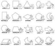 Basic Geometric Shapes With Cartoon Animals Stock Vector