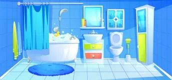 Bathroom Design Interior Room With Ceramic Furniture Background Template Vector Cartoon Illustration Stock Vector Illustration of flat bidet: 140159465