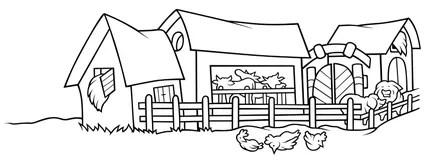 Bauernhaus Stockillustrationen