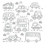 Cars, coloring book stock vector. Illustration of