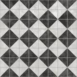 Black White Checker Floor Tile Pattern Stock Photos