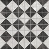 Black White Checker Floor Tile Pattern Stock Photos