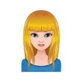girl lovely. avatar. blonde