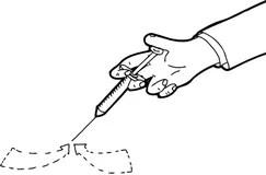 Outline of Medical Syringe stock illustration