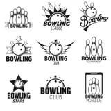 Bowling Design Emblem Templates Stock Vector