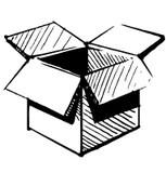 Present Box Cartoon Sketch Vector Illustration Stock