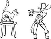 Cat Line Drawing Stock Illustrations, Vectors, & Clipart