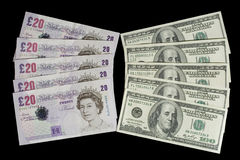 British pounds and dollars editorial stock photo. Image of business - 5374828
