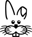Easter Bunny Face Stock Illustrations