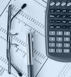Calculator Over Financial Budget Spreadsheet Stock Image - Image of ...
