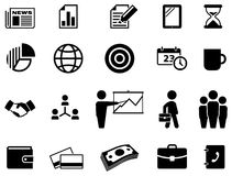 Technology Icon On Square Black And White Button C Stock