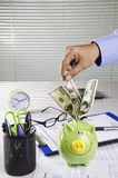 Business saving money Stock Image