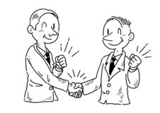 Businessmen shaking hands stock vector. Illustration of