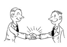 Businessmen shaking hands stock vector. Illustration of