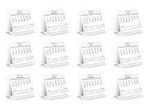2014 Calendar Whith Photo Frames Stock Vector
