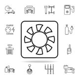 Vector Black Electric Car Icons Set Stock Vector
