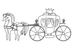 Sketch of vintage carriage stock vector. Illustration of