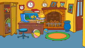 Cartoon Animated Room Messy Childrens Royalty Free Ilration