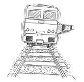 Drawing Train Stock Illustrations