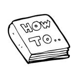 Retro cartoon manual book stock vector. Image of