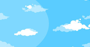 Cloudy Blue Summer Sky Motion Graphic Animation Stock