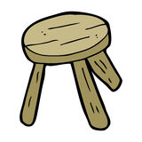 Cartoon wooden stool Stock Photo