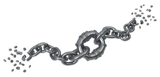 Break Chains Slavery Stock Illustrations
