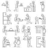 Vector Set:Retro Master Chef Labels And Icons Stock Image