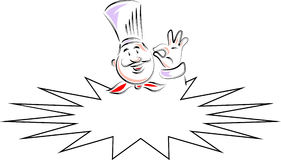 Chef hand with plate stock vector. Illustration of cooking