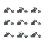 Easy Rider Chopper Motorcycle Stock Illustration