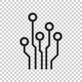 Scheme of circuit board stock photo. Image of closeup