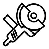 Kite Thin Line Icon. Flying Kite Vector Illustration