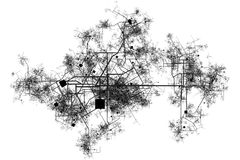 Wireframe City stock illustration. Illustration of