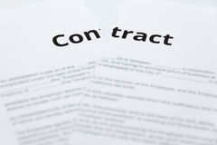 Rip up the contract stock photo. Image of breaking
