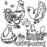Coloring book, Cartoon farm animals Royalty Free Stock Image