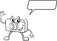 Camera coloring page stock illustration. Illustration of