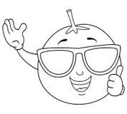 Orange Vitamin C Smiling Character Stock Vector