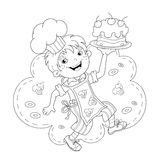 Cartoon Girl Chef Cooking Stock Illustrations