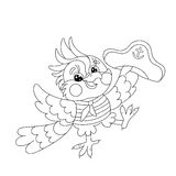 Sailor coloring page stock illustration. Illustration of