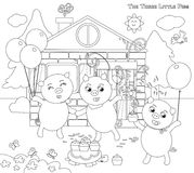 Black White Pigs Stock Illustrations
