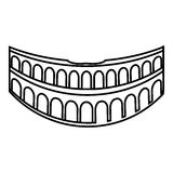 Colosseum In Rome Icon, Outline Style Stock Vector