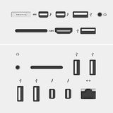 Computer audio icons stock vector. Illustration of