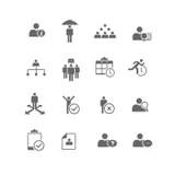 Conjunto De Iconos De La Gestión 16 Y De Los Recursos