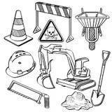 Sketchy Dump Truck Vector stock vector. Illustration of