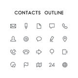 Email Icon Website Contacts Symbol Stock Vector