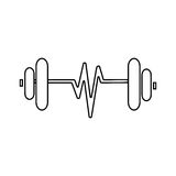 Sketch dumbbell weight stock vector. Illustration of