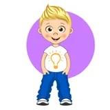 cool boy cartoon stock illustration