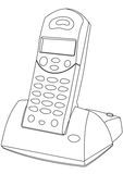 Telephone Line Drawing stock vector. Image of graphic