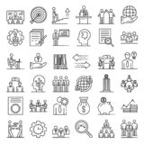 Icons Corporate Governance, Business Training. Stock