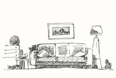 Bad Boy Room Woodcut Engraving Stock Illustration